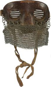 WWII British memorabilia shrapnel mask