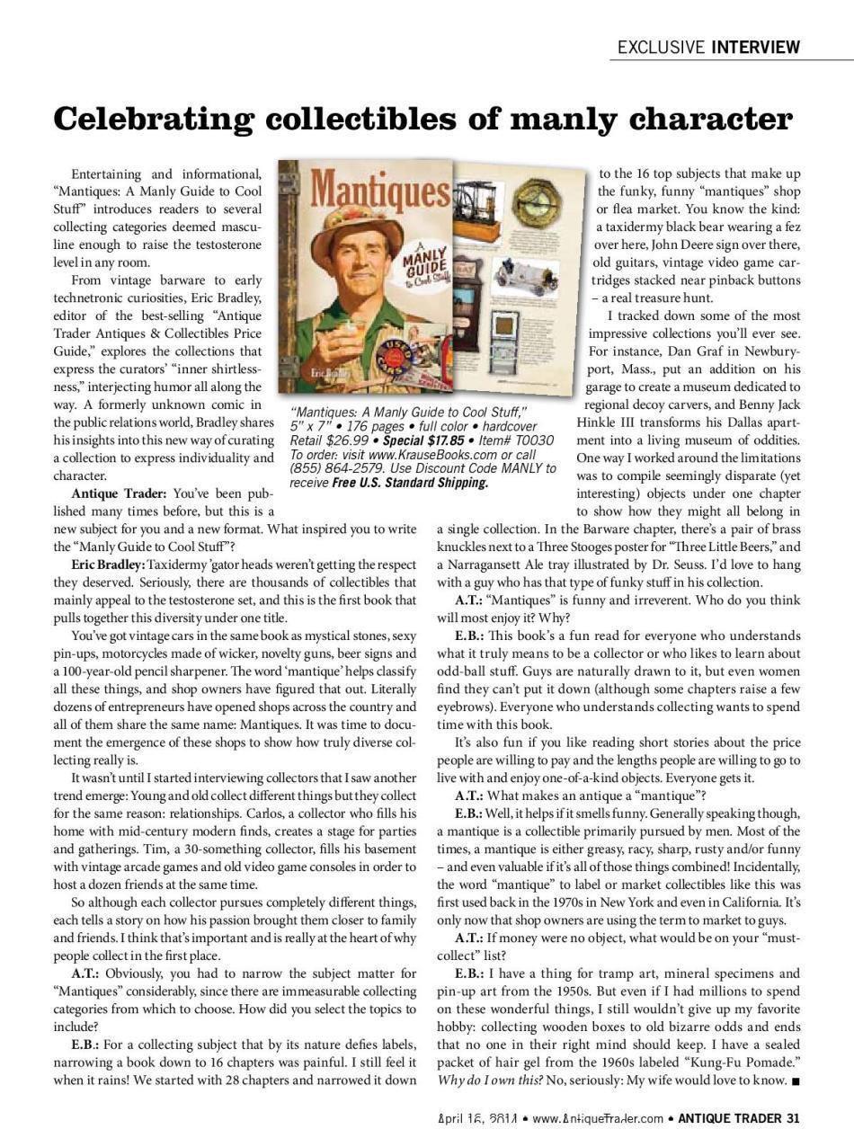 Antique Trader Magazine Mantiques Karen Knapstein