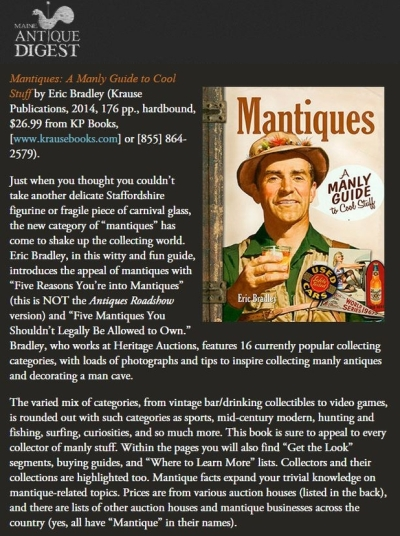 Maine Antique Digest September 2014 Mantiques Book Review